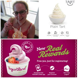 Yogurtland Real Rewards program, earn free yogurt